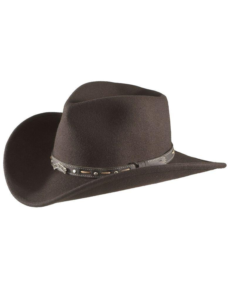 Jack Daniel's Crushable Wool Felt Hat, Black, hi-res
