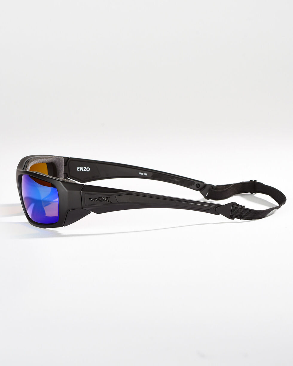 Wiley X Enzo Climate Control Polarized Sunglasses , Black, hi-res