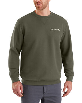 Carhartt Men's Midweight Graphic Crewneck Sweatshirt - Big , Moss Green, hi-res