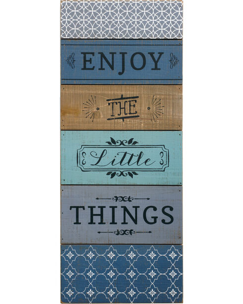 Demdaco Enjoy The Little Things Wall Art , Blue, hi-res