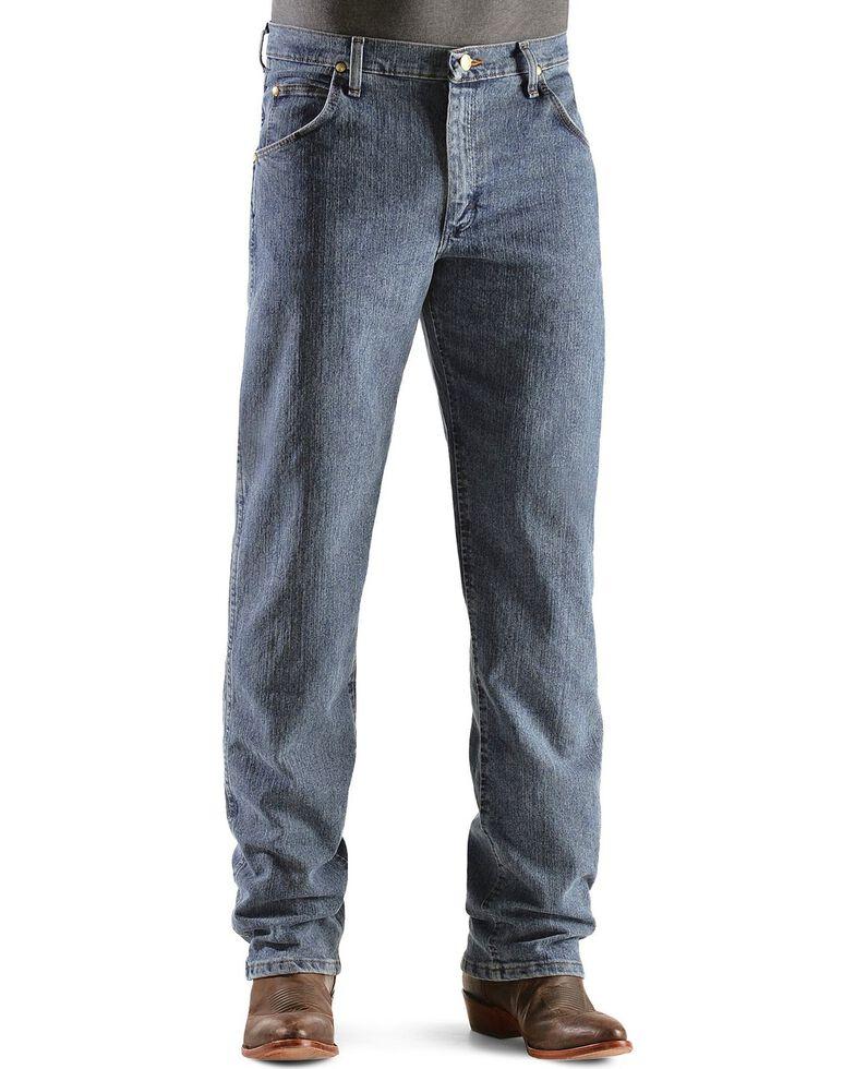 Wrangler Men's Premium Performance Advanced Comfort Mid Tint Jeans - Big & Tall, Dark Denim, hi-res