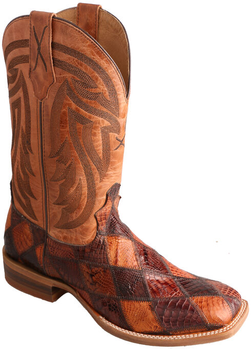 Twisted X Peanut Caiman Rancher Cowboy Boots - Square Toe , Multi, hi-res