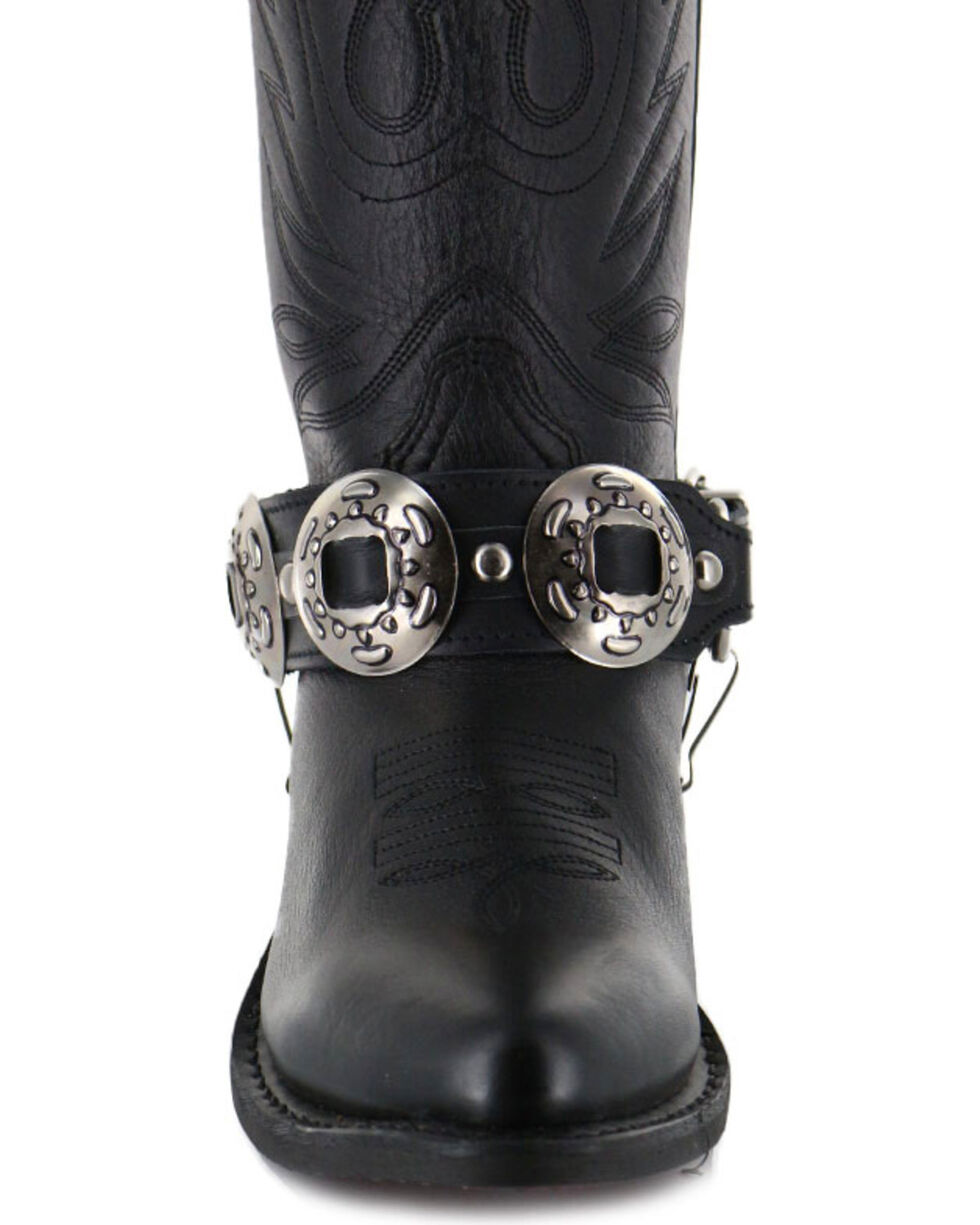 Almax Women's Studded Leather Boot Bracelet, Black, hi-res