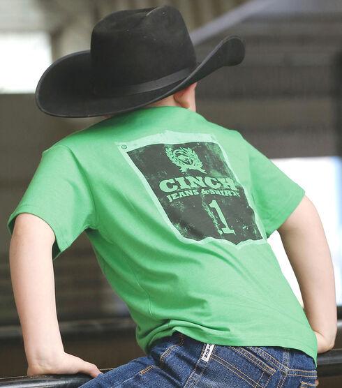 Cinch Boy's Green Graphic Print Short Sleeve T-Shirt, Green, hi-res