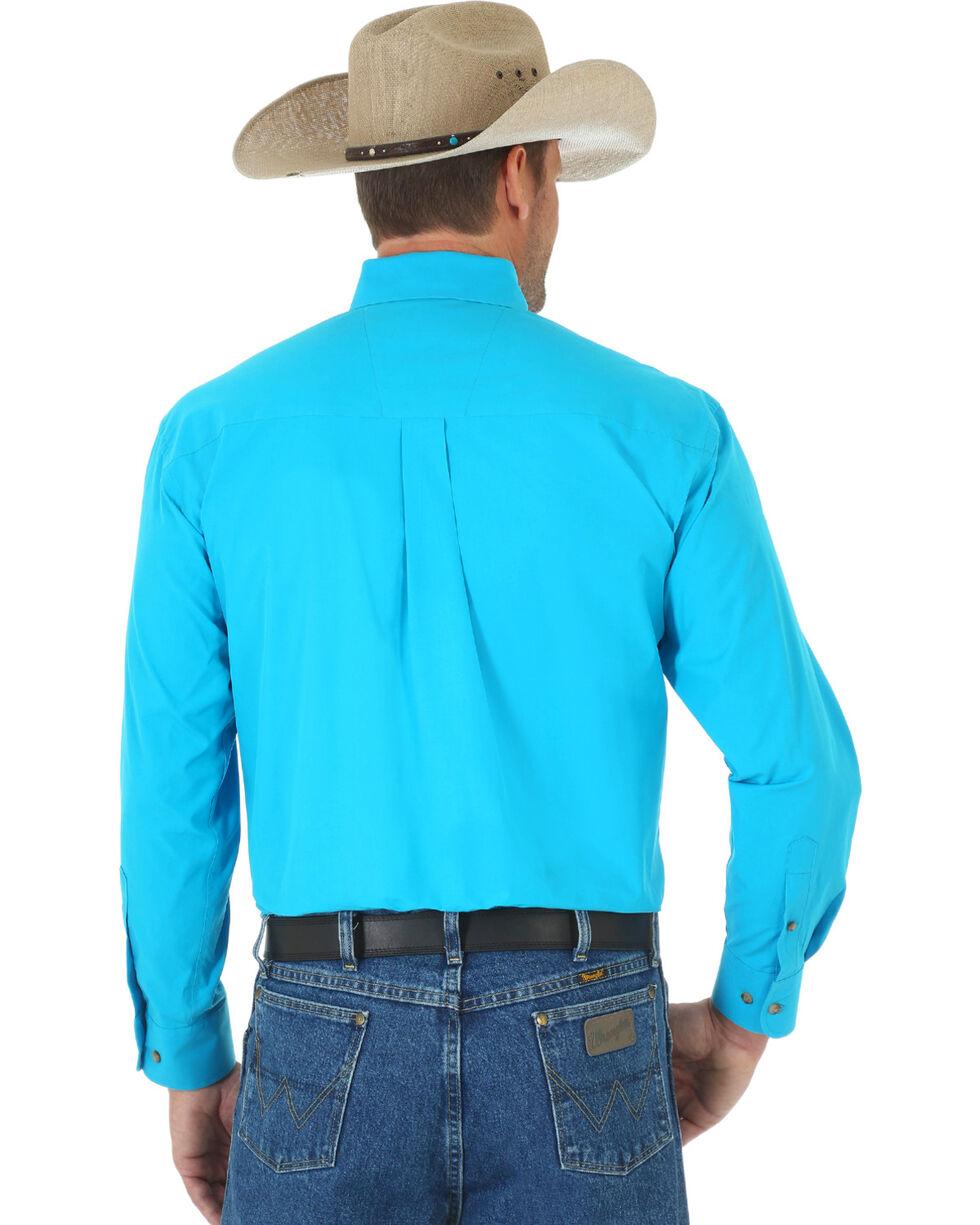 Wrangler George Strait Men's Turquoise Long Sleeve Shirt - Tall, Turquoise, hi-res