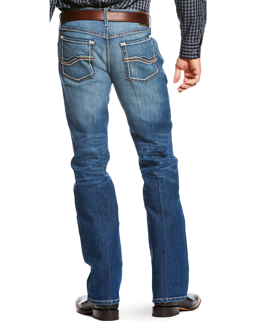 Ariat Men's Blue RLS Orignal Fit Outpost Jeans - Straight Leg , Blue, hi-res