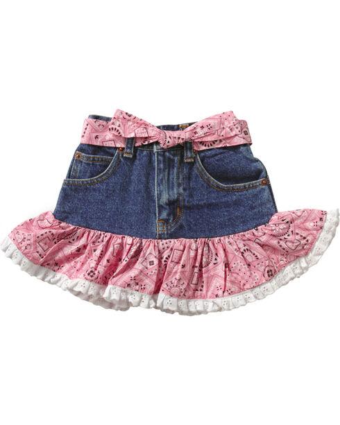 Kiddie Korral Cowgirl Boots Bandana Skirt Set - 2-6, Pink, hi-res