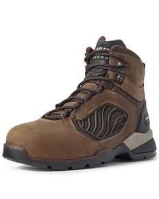 Ariat Women's Rebar Flex Lace-Up Work Boots - Carbon Toe, Brown, hi-res