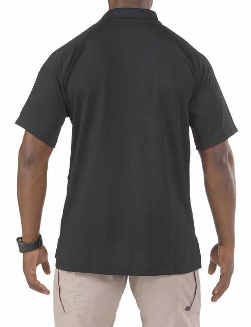 5.11 Tactical Performance Short Sleeve Polo Shirt - Tall Sizes (2XT - 5XT), Black, hi-res