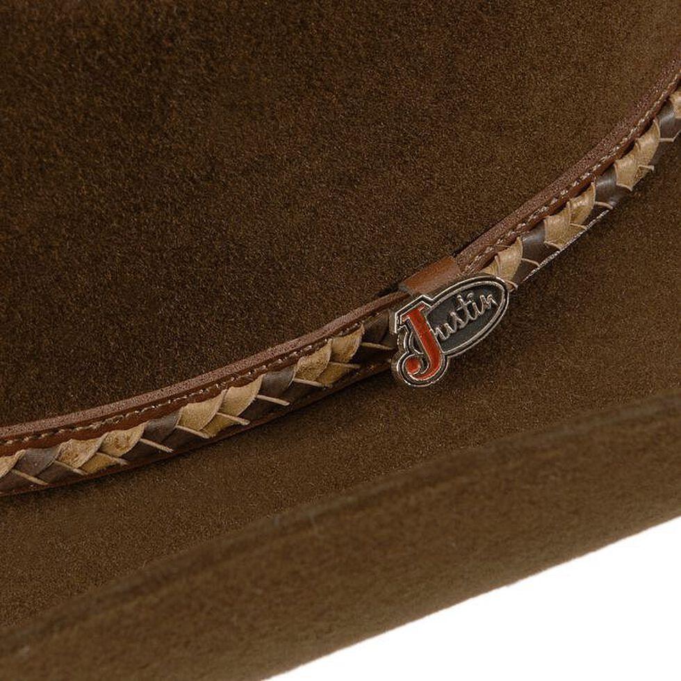 Justin Plains 2X Wool Felt Cowboy Hat, Brown, hi-res