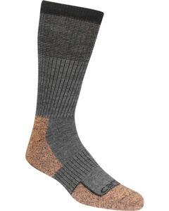 Carhartt Force Steel Toe Grey Copper Crew Socks, Charcoal Grey, hi-res