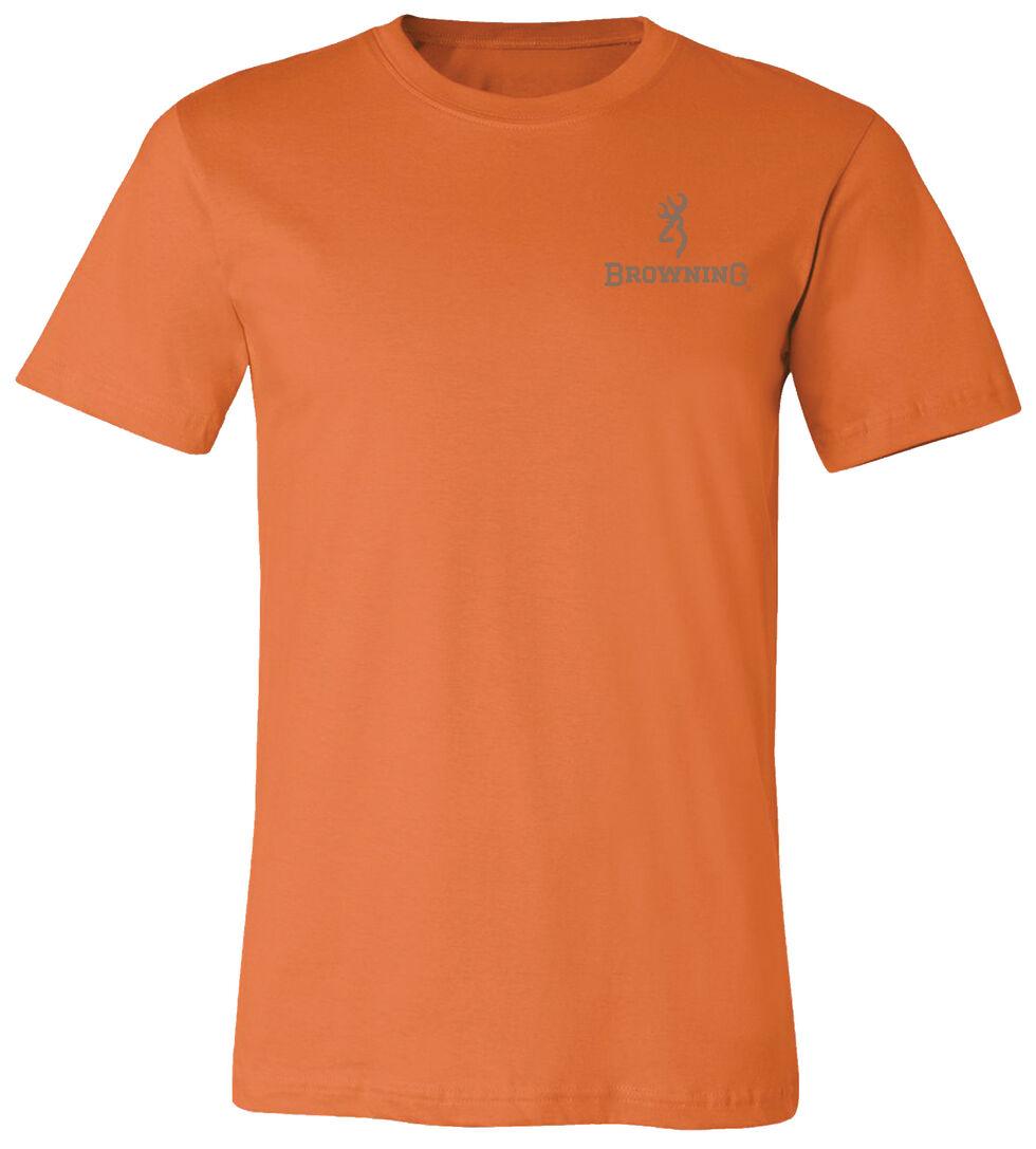 Browning Men's Antler Buckmark Orange Short Sleeve Tee, Orange, hi-res