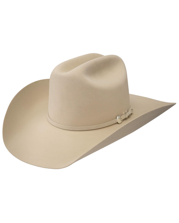 abecfda561f custom wornstar rocker cowboy hat wsch 135  resistol pure 100x beaver fur  felt cowboy hat cream hi res