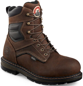"Irish Setter by Red Wing Shoes Men's Ramsey 8"" Work Boots - Safety Toe , Brown, hi-res"