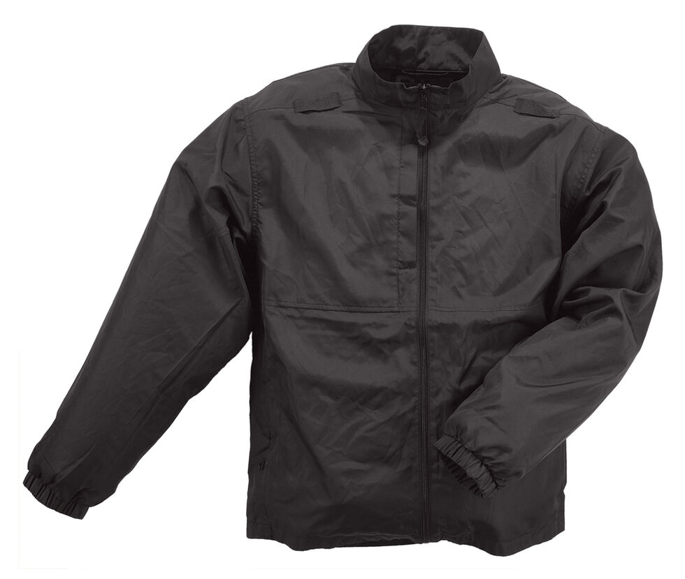 5.11 Tactical Men's Packable Jacket - 3XL and 4XL, Black, hi-res