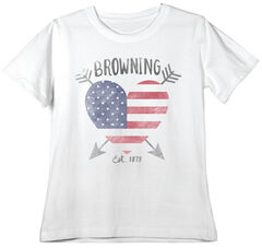 Browning Women's Classic Fit Love Stuck White T-Shirt, White, hi-res