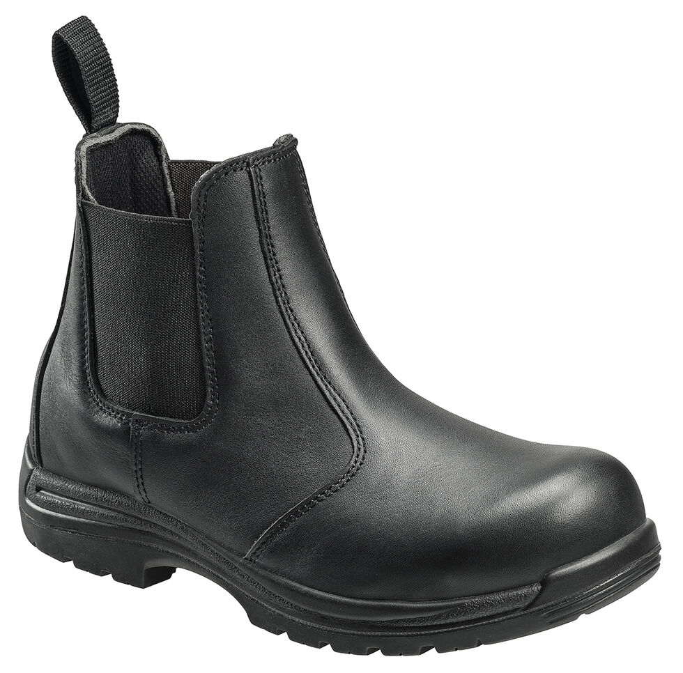 Avenger Men's Anti-Slip Uniform Work Boots - Composite Toe, Black, hi-res