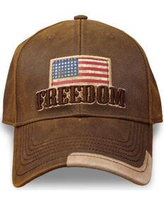Farm Boy Men's Freedom Flag Ball Cap, Brown, hi-res