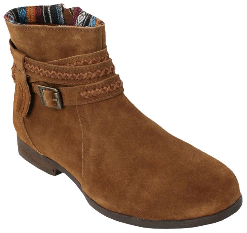 Minnetonka Women's Dixon Boots, Dusty Brn, hi-res