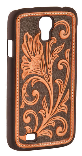 Nocona Floral Tooled Galaxy S4 Case, Tan, hi-res