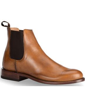 El Dorado® Men's Handmade Tan Leather Pull-On Urban Roper Boots - Round Toe, Tan, hi-res