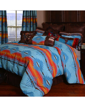 Carstens Arizona Queen Bedding - 5 Piece Set, Turquoise, hi-res