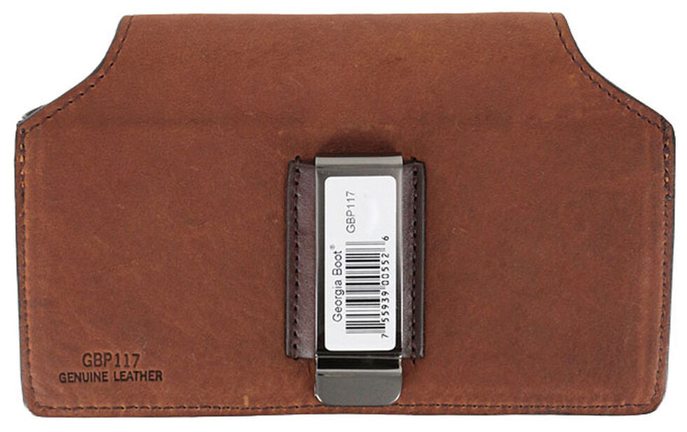 Georgia Leather Smart Phone Case, Brown, hi-res
