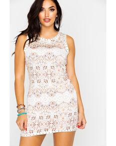 Idyllwind Women's Miss Texas Mini Dress , Peach, hi-res