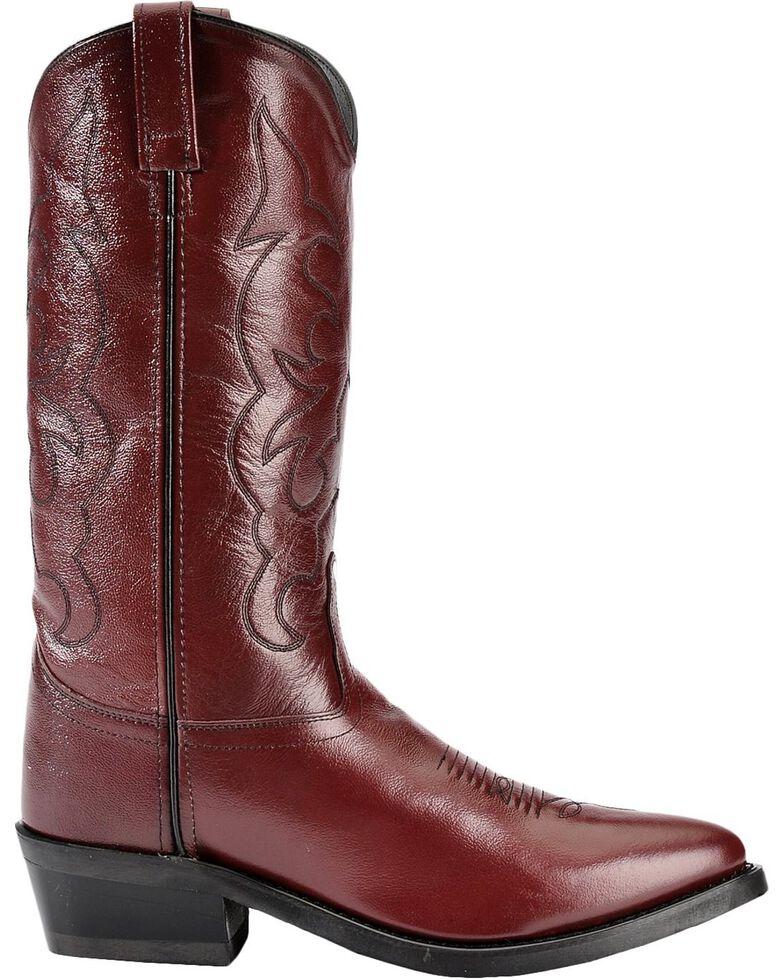 Old West Trucker Western Work Boots, Black Cherry, hi-res