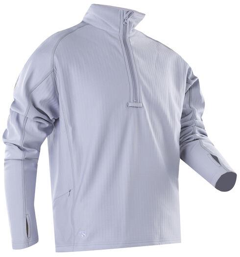 Tru-Spec Men's Grey 24-7 Grid Fleece Pullover , Charcoal Grey, hi-res