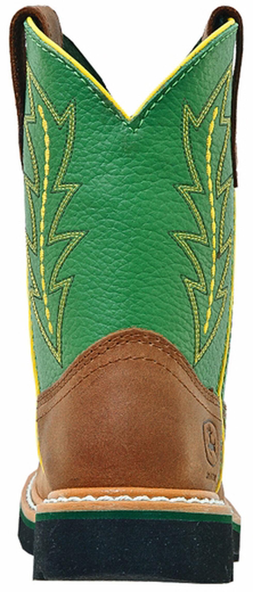 John Deere Youth Boys' Johnny Popper Green Western Boots - Round Toe, Tan, hi-res