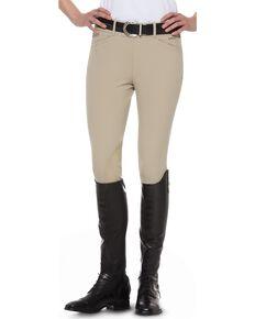 Ariat Women's Olympia Side-Zip Riding Breeches, Beige, hi-res
