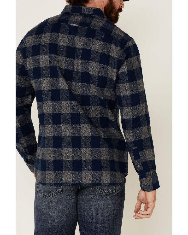 Flag & Anthem Men's Blue Harrells Plaid Long Sleeve Western Flannel Shirt , Blue, hi-res