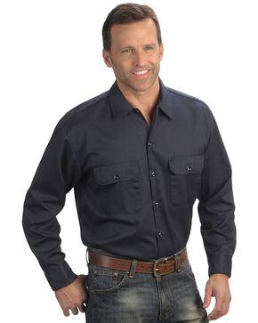 Dickies Twill Work Shirt - Big & Tall, Dark Blue, hi-res