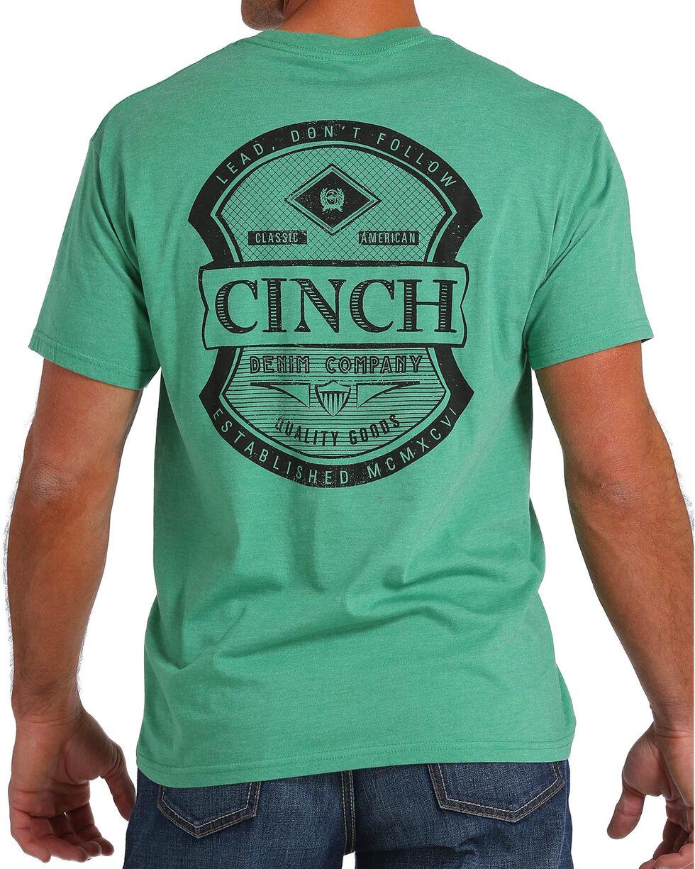 Cinch Men's Green Logo Screen Print Pocket Tee, , hi-res