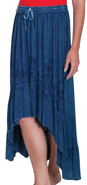 Scully Women's High-Low Maxi Skirt, Denim, hi-res