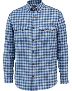 Wolverine Men's Drummond Long Sleeve Flannel Shirt, Navy, hi-res