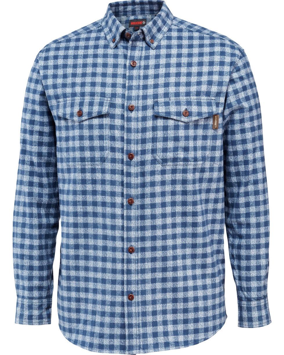 Wolverine Men's Drummond Long Sleeve Flannel Shirt, Navy, hi-res