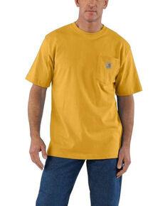 Carhartt Men's Heather Gold Pocket Short Sleeve Work T-Shirt , Gold, hi-res