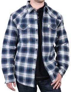Cody James Men's Shasta Blue Plaid Flannel Shirt, Blue, hi-res