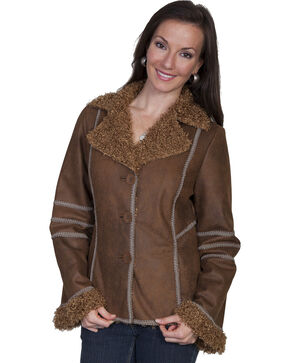 Scully Women's Vintage Faux Fur Jacket, Charcoal, hi-res