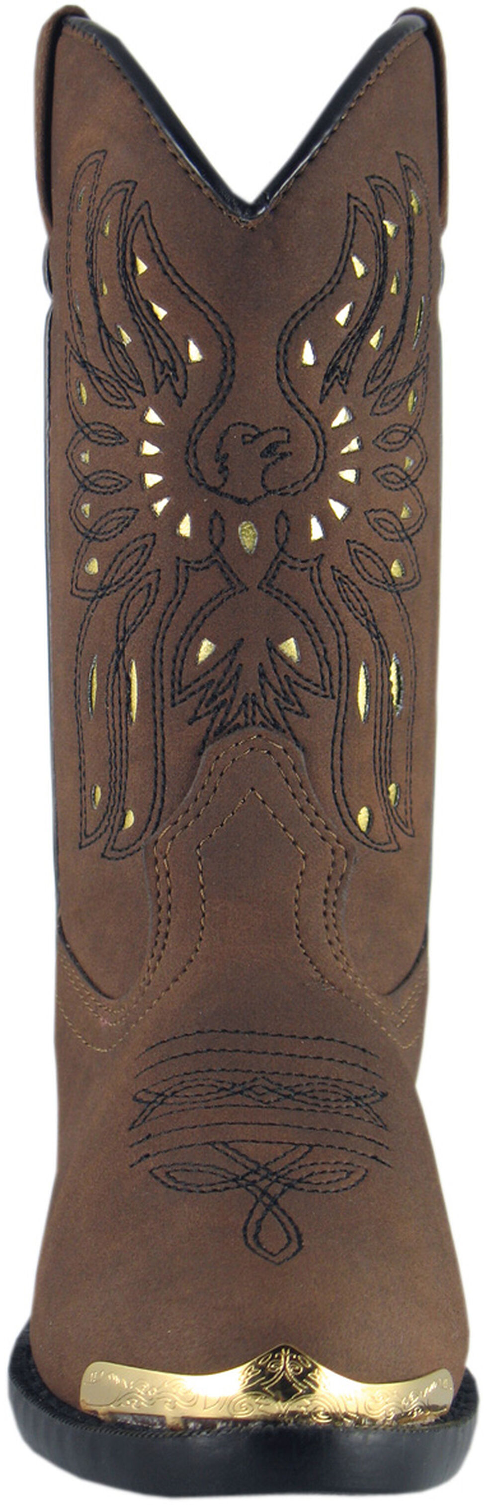 Smoky Mountain Youth Boys' Phoenix Western Boots - Round Toe, Brown, hi-res