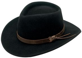 Twister Durango Crushable Felt Hat, Black, hi-res