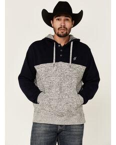 HOOey Men's Solid Navy Baja Jimmy Pullover Hooded Sweatshirt , Navy, hi-res