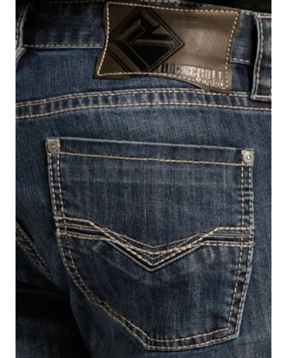"Rock & Roll Cowboy Small ""V"" Reflex Revolver Jeans - Straight Leg , Indigo, hi-res"