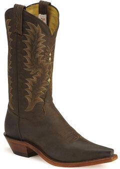 Tony Lama El Paso Goatskin Cowgirl Boots, Chocolate, hi-res