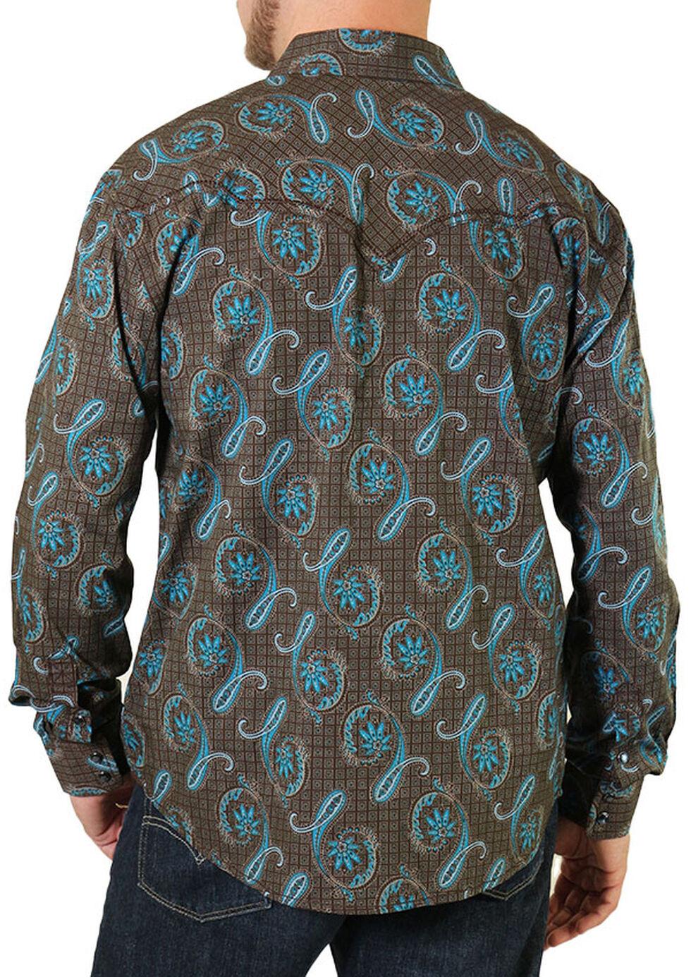 Moonshine Spirit Men's Geo Paisley Western Shirt, Brown, hi-res