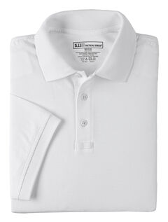 5.11 Tactical Jersey Short Sleeve Polo, White, hi-res