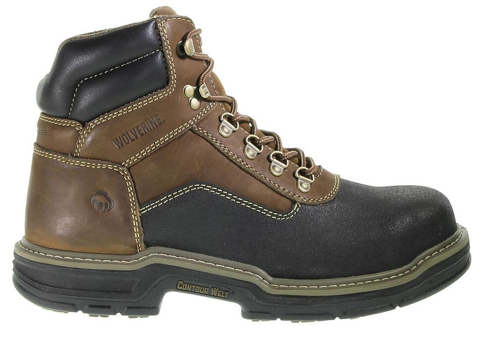 "Wolverine 6"" Corsair Waterproof Lace-Up Work Boots - Composite Toe, Brown, hi-res"