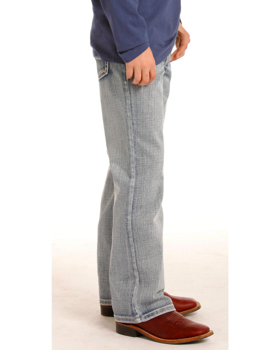 Rock & Roll Cowboy Boys' (7-20) Gun Light Wash Jeans - Boot Cut , Indigo, hi-res